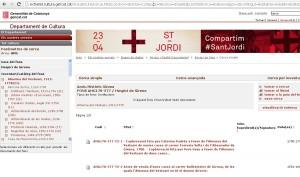 Web del archivo histórico de Girona donde se puede consultar el catálogo del antiguo Hospicio de Girona