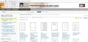Web donde se puede consultar el fondo antiguo del Hospital de Santa Maria de Lérida.
